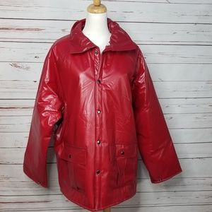 Vintage Duck Bay Mens Flannel Lined PVC Hooded